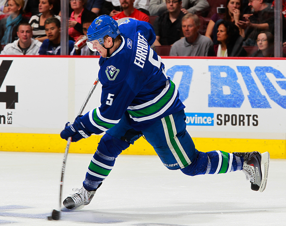 christian ehrhoff at vancouver canucks
